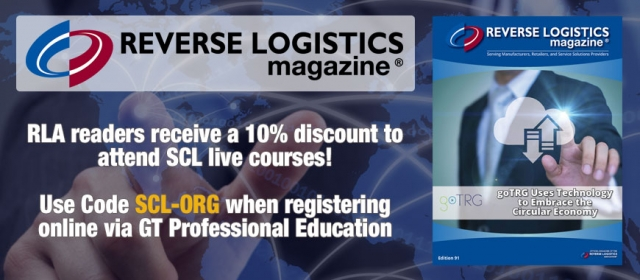 Image of Reverse Logistics Magazine promotional image with link to SCL course listing