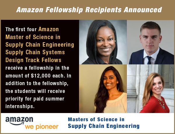 ISyE and SCL Announce Amazon Fellowship Recipients