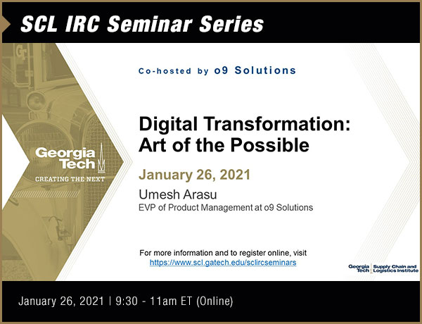 SCL IRC Seminar Series with o9 Solutions
