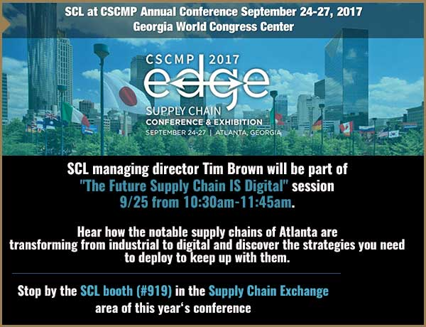 SCL will be hosting a booth at the upcoming CSCMP 2017 conference