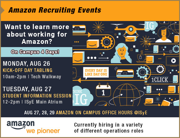 Amazon/Georgia Tech Partnership events