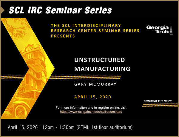 SCL IRC Seminar Series featuring Garry McMurray