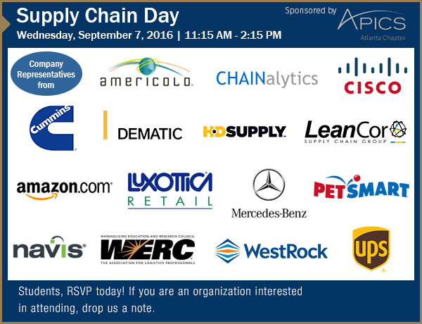 September 7, 2016 Supply Chain Day