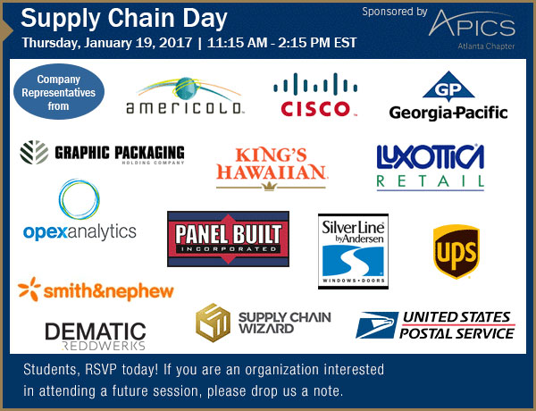 January 17, 2017 Supply Chain Day