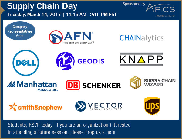 March 14, 2017 Supply Chain Day