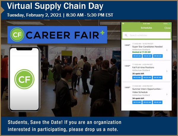 Upcoming Virtual Supply Chain Day