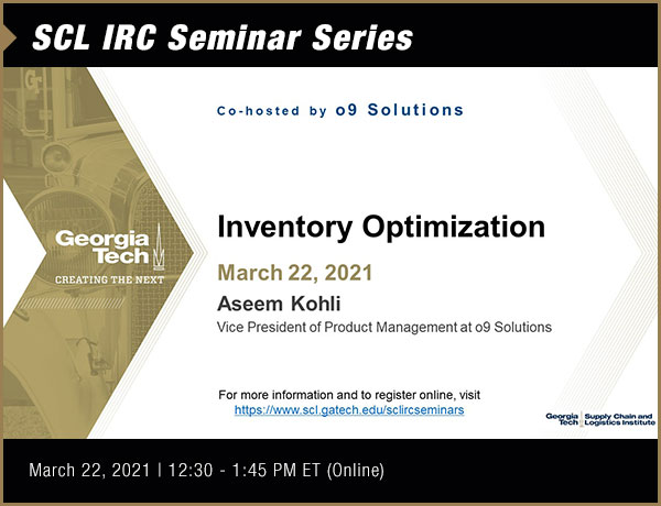 SCL IRC Seminar with o9 Solutions