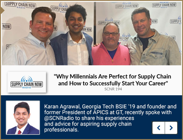 Karan Agrawal on the Supply Chain Radio Now podcast