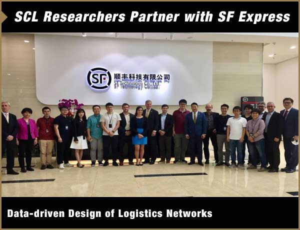 Group photograph of GT President, students, faculty and alumni at SF Express in China
