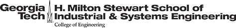 H. Milton Stewart School of Industrial & Systems Engineering (ISyE)