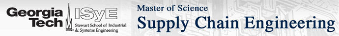 Georgia Tech Master of Science in Supply Chain Engineering