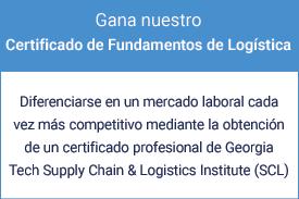Obtenga un Certificado de Fundamentos de Logística