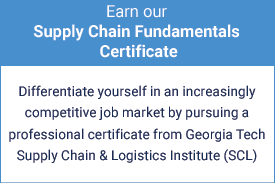 Earn our Supply Chain Fundamentals certificate