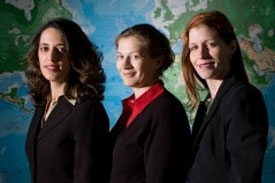 Pinar Keskinocak, Ozlem Ergun, Julie Swann (left to right)