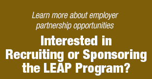Learn more about LEAP employer partnership opportunities
