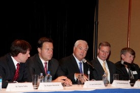 Photo of key members for Panama Center Inauguration