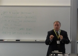 John Mariotti presenting the keynote presentation for the Fall 2012 forum
