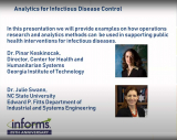 INFORMS Analytics for Infectious Disease Control