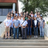 Foundation of Data Science Summer School attendees with ISyE Professor Xiaoming Huo (center)