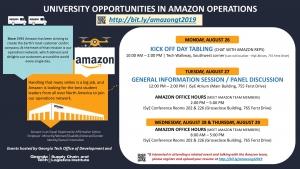 Georgia Tech / Amazon Partnership Events Aug 26-29, 2019