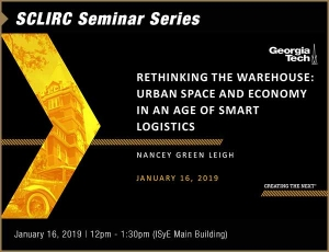 SCL IRC Seminar: Rethinking the Warehouse: Urban Space and Economy in an Age of Smart Logistics