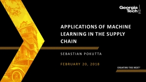 SCLIRC Seminar: Applications of Machine Learning in the Supply Chain