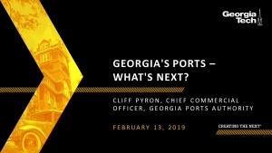SCLIRC Seminar: Georgia's Ports - What's Next?