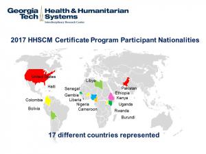2017 Course Participant map