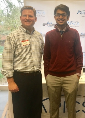 APICS Atlanta executive vice president Scott Luton and APICS at Georgia Tech founder Karan Agrawal