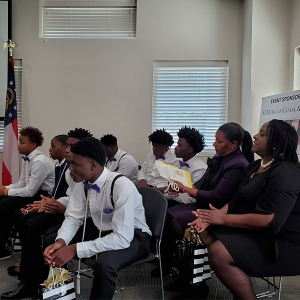 Seven teens with the Georgia Department of Juvenile Justice received certificates for completing Georgia Tech's Logistics Education And Pathways program.