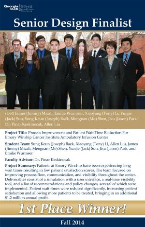 ISyE Emory Winship Senior Design Team