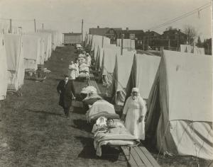 1918-19 Spanish flu pandemic tent clinic