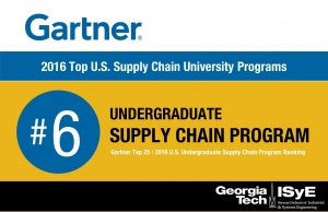 ISyE Undergraduate Supply Chain Program Ranking Rises to No. 6