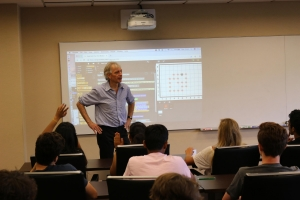 A. Russell Chandler III Chair and Professor Pascal Van Hentenryck instructing the campers