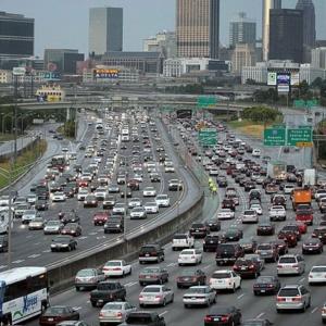 Rush hour traffic in Atlanta