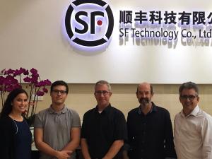Benoit Montreuil, Martin Savelsbergh, and Alan Erera at SF Express [R-L]