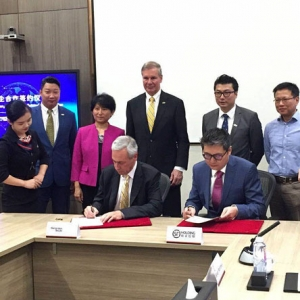Project signing between Georgia Tech and SF Express