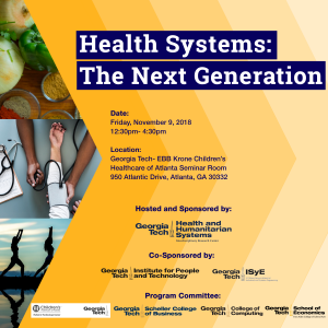 Health Systems: The Next Generation 2018 Flyer NEW