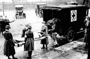 1918-19 Spanish flu ambulance