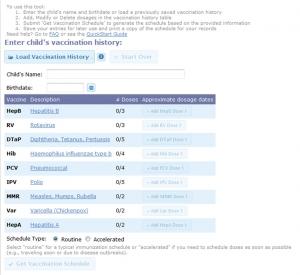 Online scheduler form