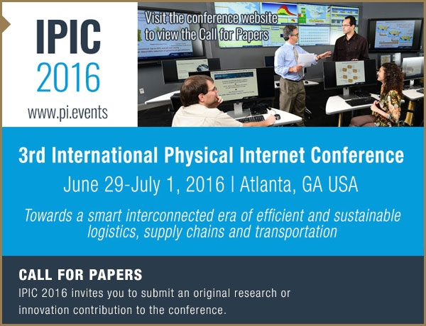 3rd International Physical Internet Conference (IPIC 2016)