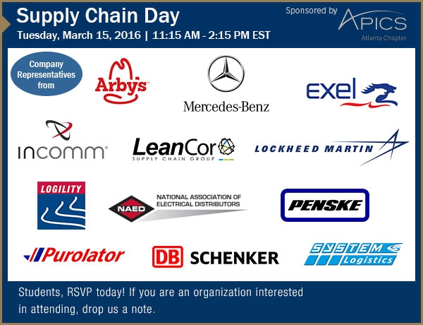 Upcoming Supply Chain Day session
