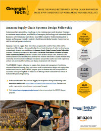 Amazon Fellowship flyer