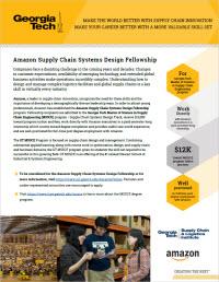 Amazon Fellowship flyer