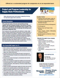Download the Project and Program Leadership for Supply Chain Professionals brochure