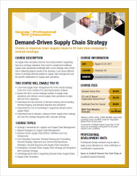 Demand-Driven Supply Chain Strategy course flyer
