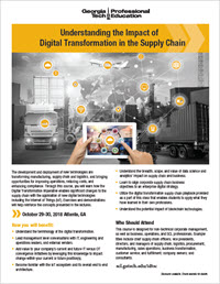 Download the Understanding the Impact of Digital Transformation in the Supply Chain flyer