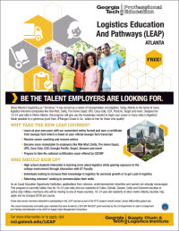 Logistics Education and Pathways (LEAP) Course Series Flyer