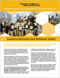 LEAP Sponsorship Opportunities flyer