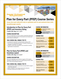 Plan for Every Part (PFEP) Course Series Flyer